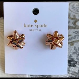 Kate Spade Bow Bourgeois Rose Gold Earrings